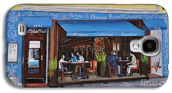 Montreal Paintings Galaxy S4 Cases - Ferreira Cafe  Galaxy S4 Case by Reb Frost