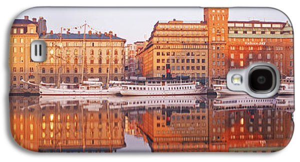 Sailboat Images Galaxy S4 Cases - Ferries And Sailboats Moored Galaxy S4 Case by Panoramic Images