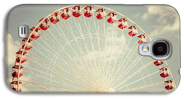 Ferris Wheel Chicago Navy Pier Vintage Photo Galaxy S4 Case by Paul Velgos