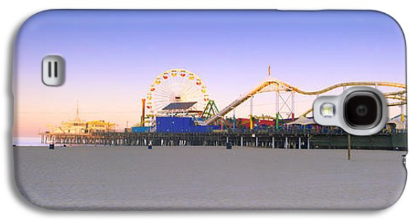 Rollercoaster Photographs Galaxy S4 Cases - Ferris Wheel Lit Up At Dusk, Santa Galaxy S4 Case by Panoramic Images