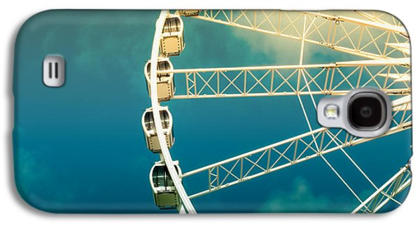 Activity Photographs Galaxy S4 Cases - Ferris wheel old photo Galaxy S4 Case by Jane Rix