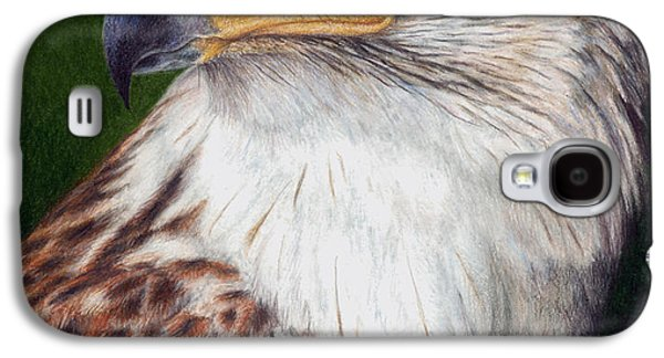 Colored Pencil Paintings Galaxy S4 Cases - Ferruginous Hawk Galaxy S4 Case by Pat Erickson