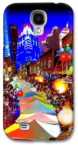 Austin ist Digital Galaxy S4 Cases - Festive 6th Street Austin Galaxy S4 Case by Dan Terry