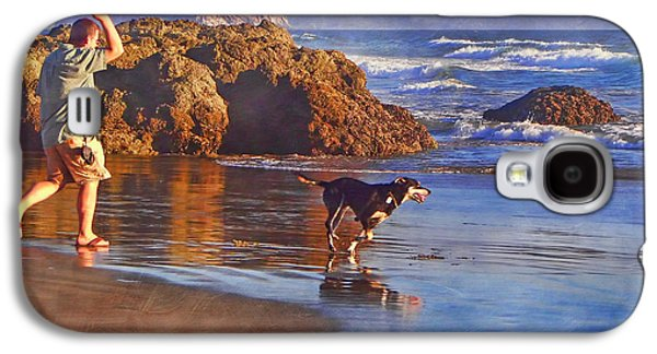 Pch Galaxy S4 Cases - Fetch - Dog and Master - Morro  Galaxy S4 Case by Nikolyn McDonald