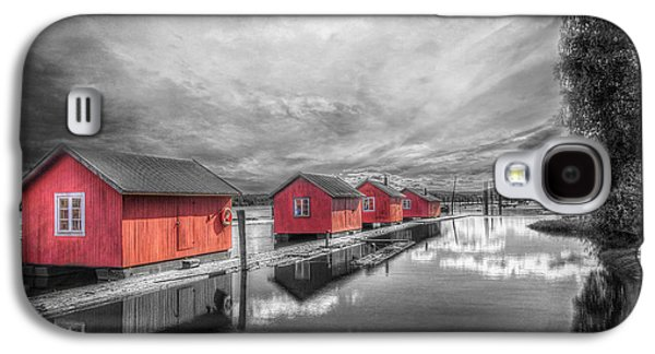 Nature Scene Photographs Galaxy S4 Cases - Fetsund Timber Booms Galaxy S4 Case by Erik Brede