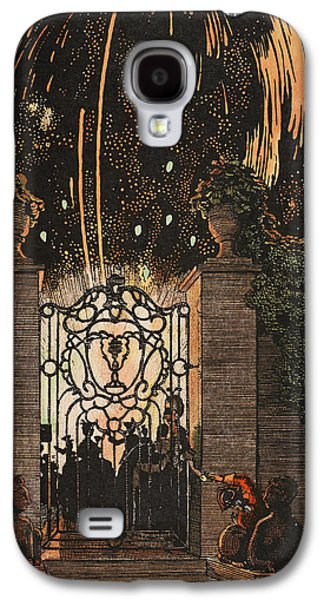 4th July Paintings Galaxy S4 Cases - Feu d artifice Galaxy S4 Case by Konstantin Andreevic Somov