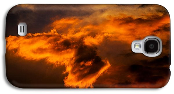 Poster Art Galaxy S4 Cases - Feu dans le ciel Galaxy S4 Case by Jb Atelier