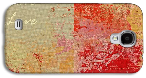Abstract Nature Galaxy S4 Cases - Feuilleton de Nature - Laugh Live Love - 01at01 Galaxy S4 Case by Variance Collections