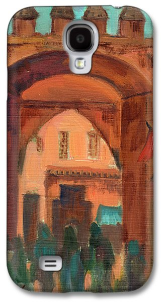 Temple Paintings Galaxy S4 Cases - Fez Town Scene Galaxy S4 Case by Diane McClary