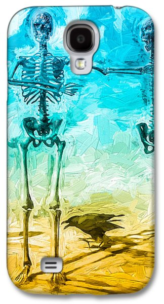 Crows Galaxy S4 Cases - Fickle Finger Of Fate Galaxy S4 Case by Bob Orsillo