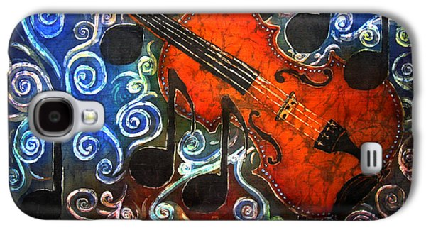 Celebrities Tapestries - Textiles Galaxy S4 Cases - Fiddle - Violin Galaxy S4 Case by Sue Duda