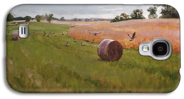 Recently Sold -  - Haybales Paintings Galaxy S4 Cases - Field Day Galaxy S4 Case by Scott Harding