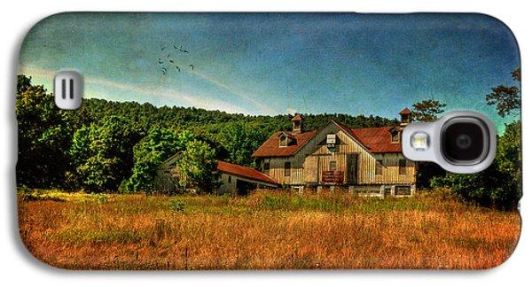 Rural Scenes Digital Galaxy S4 Cases - Field of Broken Dreams Galaxy S4 Case by Lois Bryan