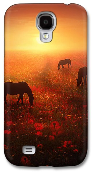 Horse Digital Galaxy S4 Cases - Field of Dreams Galaxy S4 Case by Jennifer Woodward