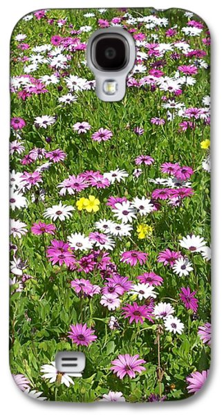 Living With Joy Galaxy S4 Cases - Field of Flowers Galaxy S4 Case by Deborah  Montana