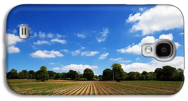Farmscape Galaxy S4 Cases - Field Of Potatoes, Near Inistioge Galaxy S4 Case by Panoramic Images