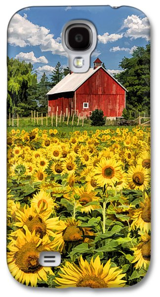 Sunflower Field Galaxy S4 Cases - Field of Sunflowers Galaxy S4 Case by Christopher Arndt