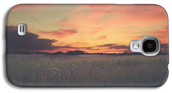 Grass Galaxy S4 Cases - Field On Fire Galaxy S4 Case by Carrie Ann Grippo-Pike