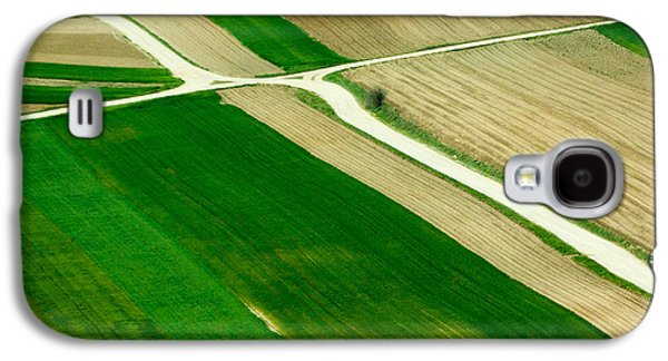 Landscapes Photographs Galaxy S4 Cases - Fields in Spring Galaxy S4 Case by Davorin Mance