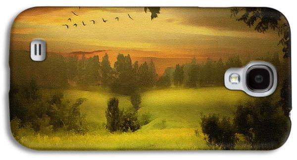 Mood Paintings Galaxy S4 Cases - Fields Of Dreams Galaxy S4 Case by Georgiana Romanovna