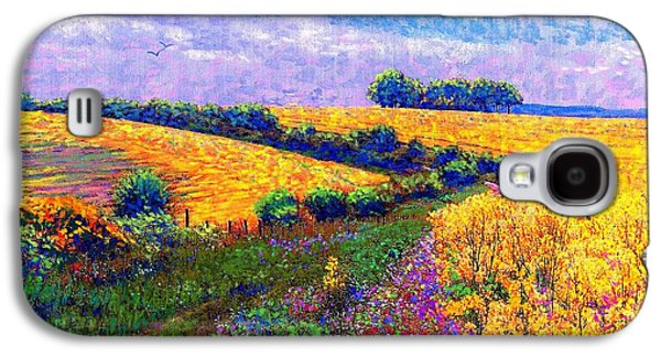 Wildflower Galaxy S4 Cases - Fields of Gold Galaxy S4 Case by Jane Small