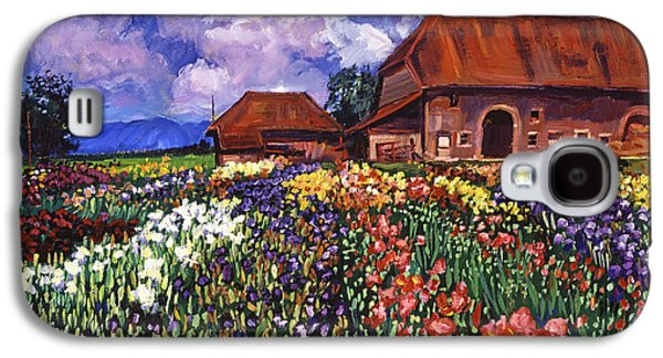 Gardenscapes Galaxy S4 Cases - Fields Of Iris Galaxy S4 Case by David Lloyd Glover