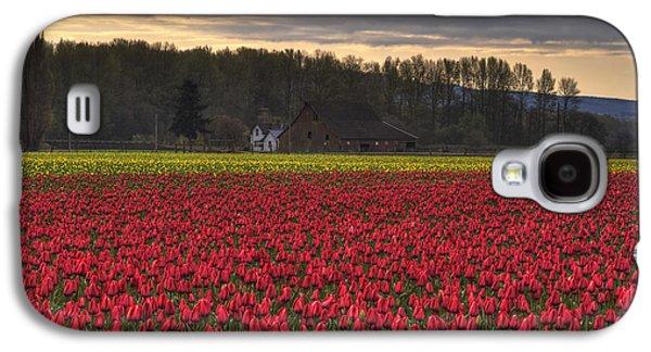Beauty Mark Galaxy S4 Cases - Fields of Tulips Galaxy S4 Case by Mark Kiver
