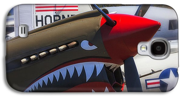 P-40 Galaxy S4 Cases - Fierce Tiger Galaxy S4 Case by Garry Gay