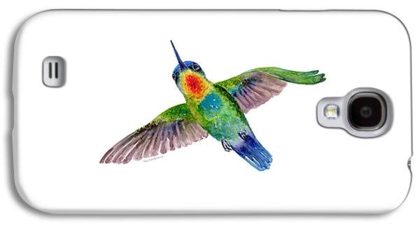 Fiery-throated Hummingbird Galaxy S4 Case by Amy Kirkpatrick