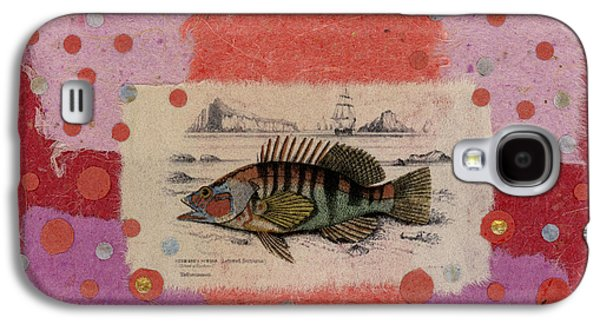 Fish Mixed Media Galaxy S4 Cases - Fiesta Fish Collage Galaxy S4 Case by Carol Leigh
