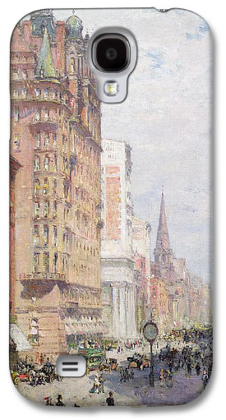 Perspective Paintings Galaxy S4 Cases - Fifth Avenue New York City 1906 Galaxy S4 Case by Colin Campbell Cooper
