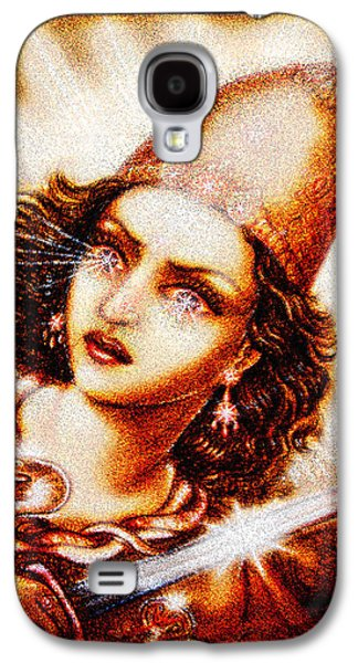 Warrior Goddess Galaxy S4 Cases - Fighting Goddess 2 Galaxy S4 Case by Ananda Vdovic
