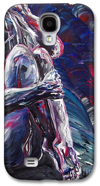 Disorder Paintings Galaxy S4 Cases - Fighting The Thoughts Galaxy S4 Case by Aarron  Laidig