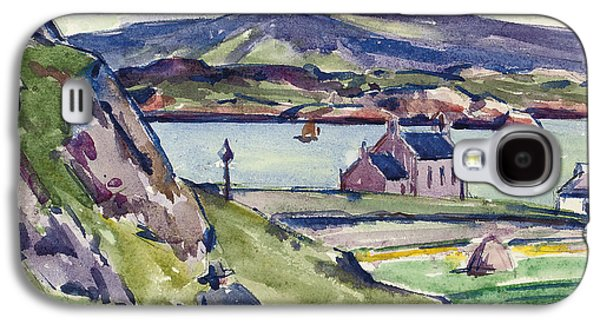 Scotland Paintings Galaxy S4 Cases - Figure and Kirk   Iona Galaxy S4 Case by Francis Campbell Boileau Cadell