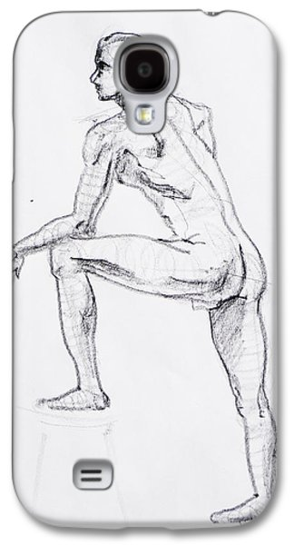 Men Drawings Galaxy S4 Cases - Figure Drawing Study II Galaxy S4 Case by Irina Sztukowski