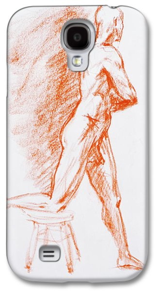 Men Drawings Galaxy S4 Cases - Figure Drawing Study III Galaxy S4 Case by Irina Sztukowski