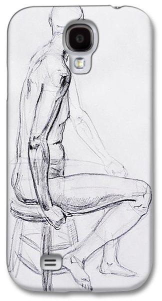 Figure Drawing Galaxy S4 Cases - Figure Drawing Study V Galaxy S4 Case by Irina Sztukowski