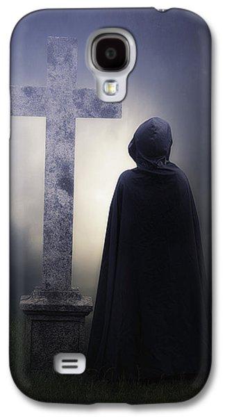 Creepy Galaxy S4 Cases - Figure On Graveyard Galaxy S4 Case by Joana Kruse