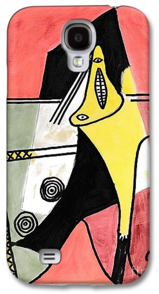Mix Medium Galaxy S4 Cases - Figure Galaxy S4 Case by P J Lewis