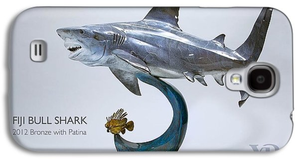 Sharks Sculptures Galaxy S4 Cases - Fiji Bull Shark Galaxy S4 Case by Victor Douieb