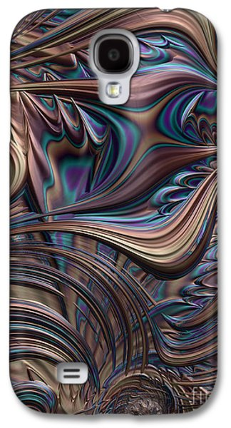 Bronze Galaxy S4 Cases - Filigree in Bronze Galaxy S4 Case by John Edwards