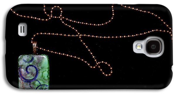 Spiral Jewelry Galaxy S4 Cases - Finding New Ways Domino Pendant Galaxy S4 Case by Beverley Harper Tinsley