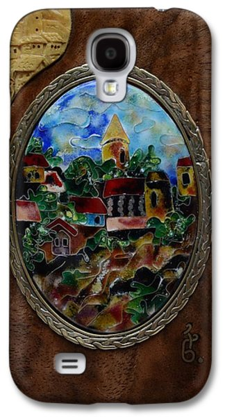 Landscapes Glass Art Galaxy S4 Cases - Fine Cloisonne Enamel Miniature paysage Galaxy S4 Case by Nino Berdzenishvili