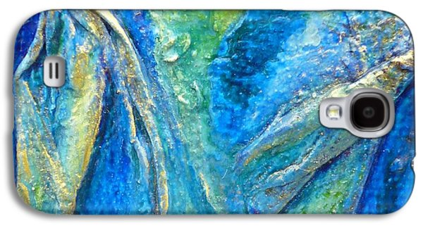Abstract Jewelry Galaxy S4 Cases - Fine Linen Galaxy S4 Case by Nancy Garbarini