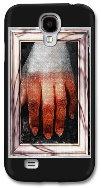 Abstract Forms Galaxy S4 Cases - Fingers on a Rock Framed Galaxy S4 Case by Kellice Swaggerty