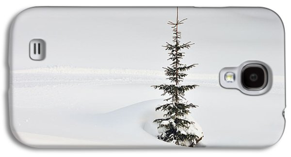Simplistic Galaxy S4 Cases - Fir tree and lots of snow in winter Kleinwalsertal Austria Galaxy S4 Case by Matthias Hauser