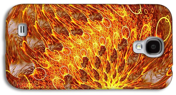 Fractal Galaxy S4 Cases - Fire and Flames Galaxy S4 Case by Anastasiya Malakhova