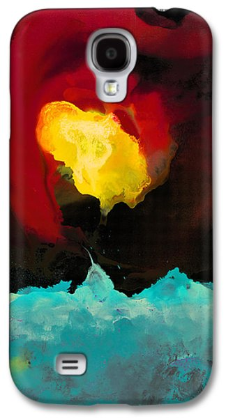 Abstract Digital Paintings Galaxy S4 Cases - Fire and Ice Galaxy S4 Case by Craig Tinder