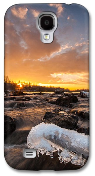 Landscapes Photographs Galaxy S4 Cases - Fire and Ice Galaxy S4 Case by Davorin Mance
