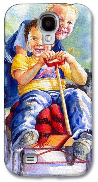 Kids Sports Art Galaxy S4 Cases - Fire Brigade  Galaxy S4 Case by Hanne Lore Koehler